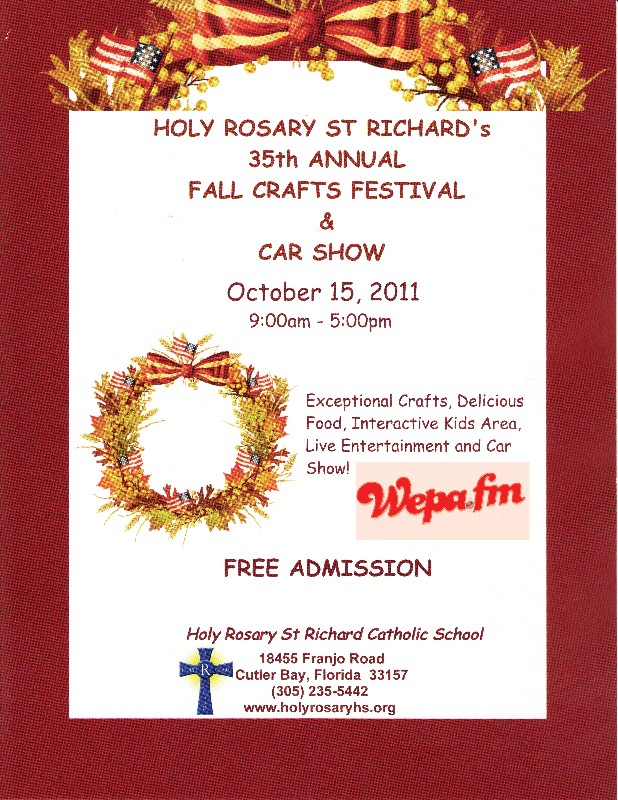Holy Rosary 35th Annual Fall Crafts Festival & Car Show