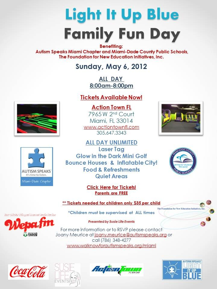 Light It Up Blue Family Fun Day