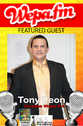 Tony Vega - Interview on Wepa.Fm (T.B.A) - Gables Hispanic Festival